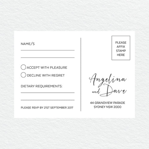 Sweet Type RSVP Card