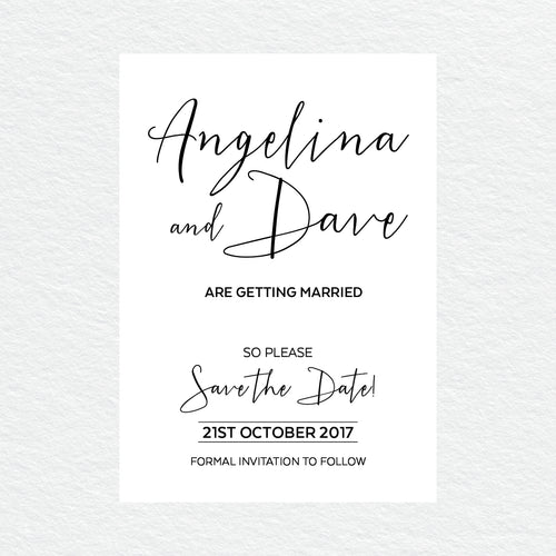 Sweet Type Save the Date Card