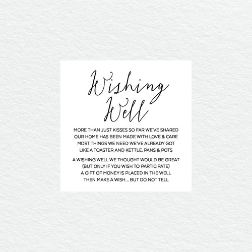 Sweet Type Wishing Well Card