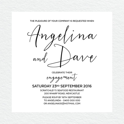Sweet Type Engagement Invitation