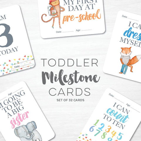 GIRLS Wood Baby Milestone Cards