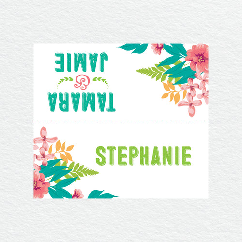 Tropical Celebration Placecard