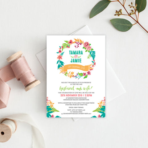 Tropical Celebration Service Covers