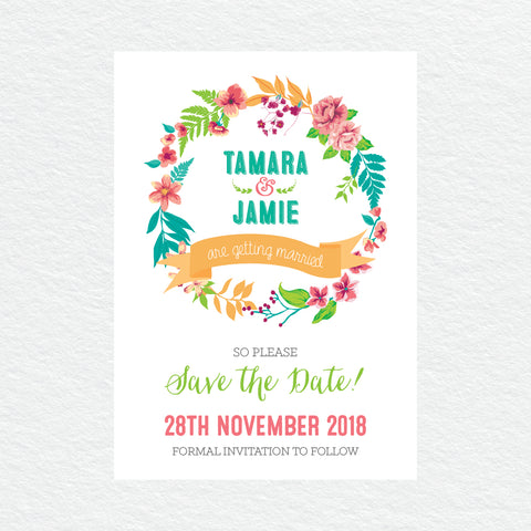 Tropical Celebration Thankyou Cards