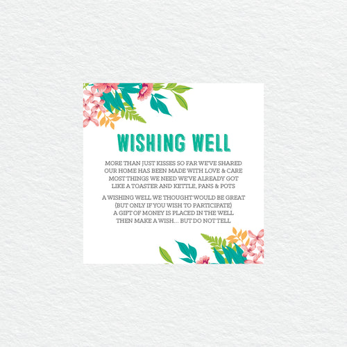 Tropical Celebration Wishing Well Card