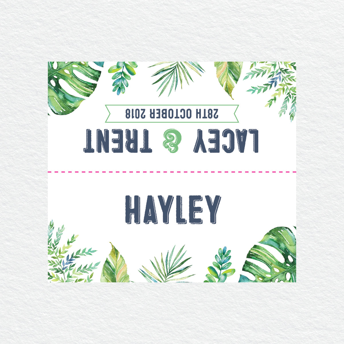 Tropicana Placecard