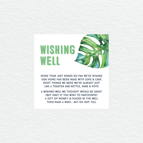 Tropicana Wishing Well Card