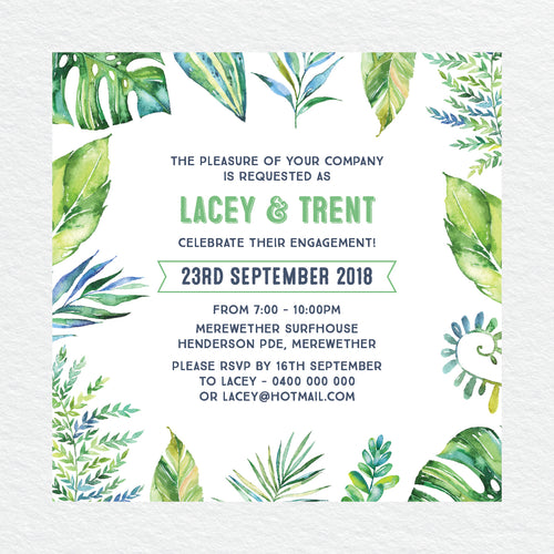 Tropicana Engagement Invitation