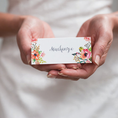 Watercolour Blooms Placecard