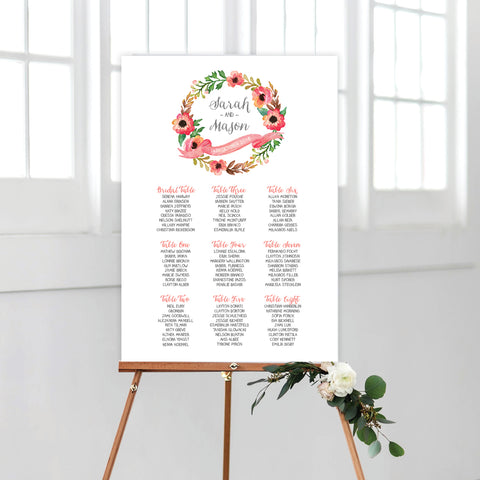 Botanical Wreath Menu