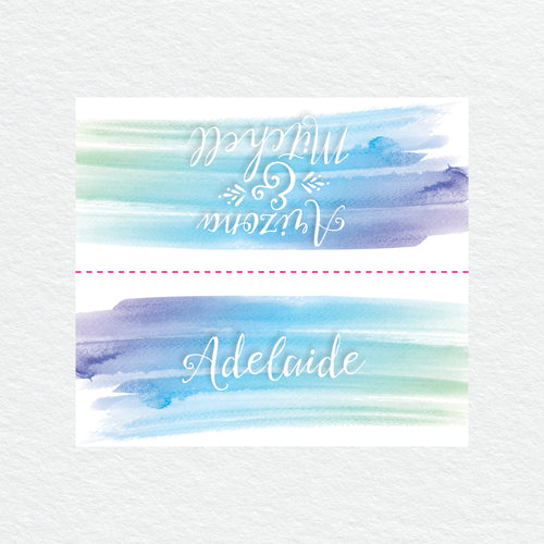 Watercolour Love Placecard