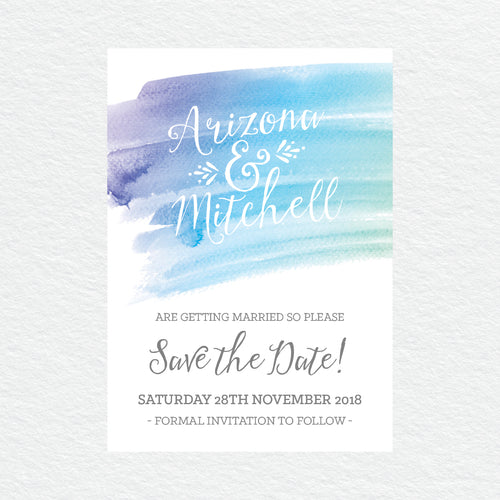 Watercolour Love Save the Date Card
