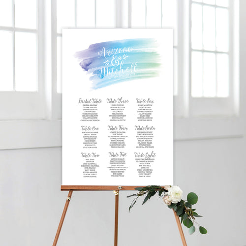 Watercolour Love Seating Chart