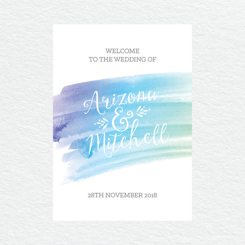 Watercolour Love Welcome Sign