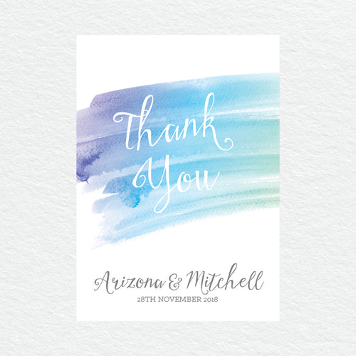 Watercolour Love Thankyou Cards