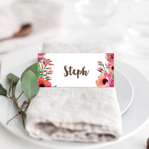 Winter Wreath Placecard