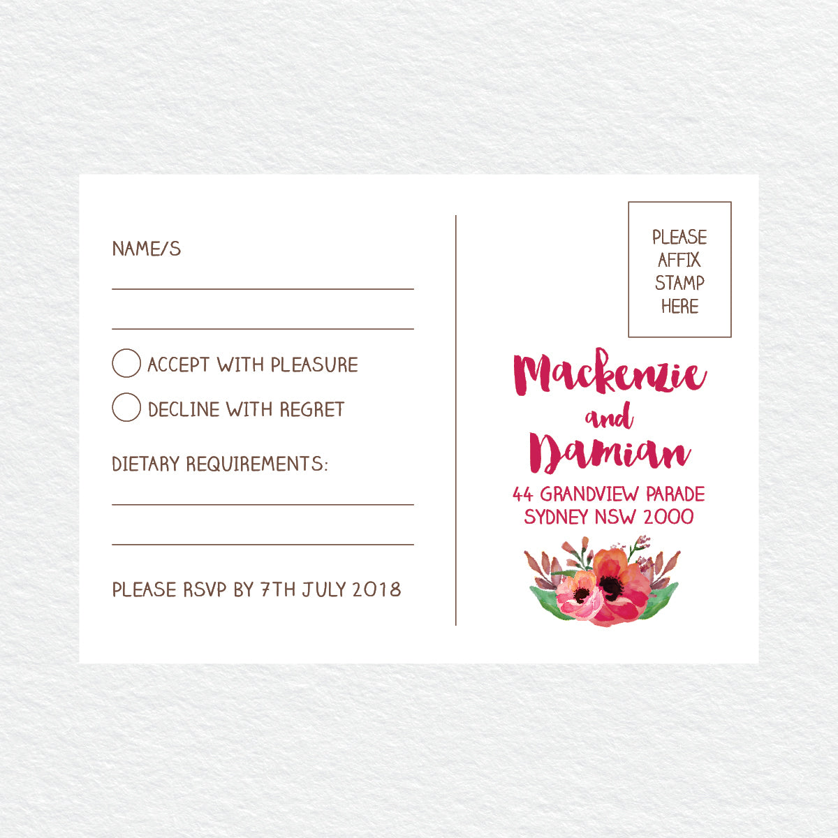Winter Wreath RSVP Card
