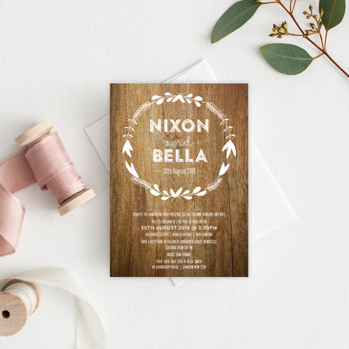 Woodland Whimsy Rectangle Invitation