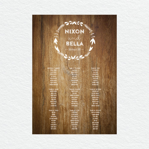 Woodland Whimsy Seating Chart