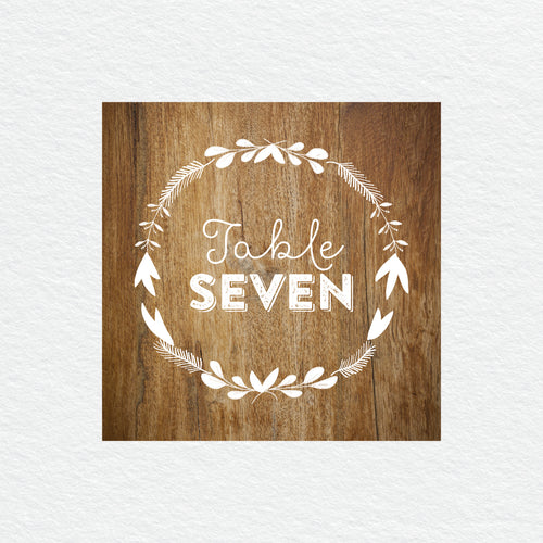Woodland Whimsy Table Numbers