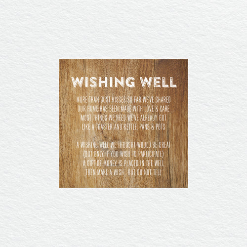Woodland Whimsy Wishing Well Card