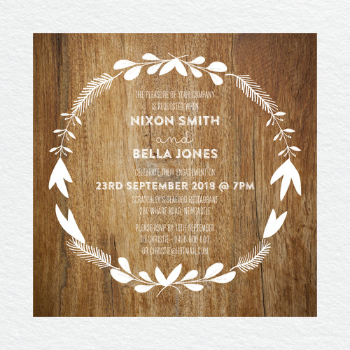 Woodland Whimsy Engagement Invitation