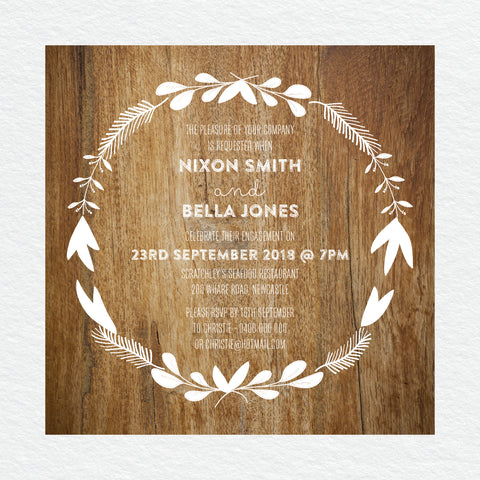 Modern Marble Engagement Invitation