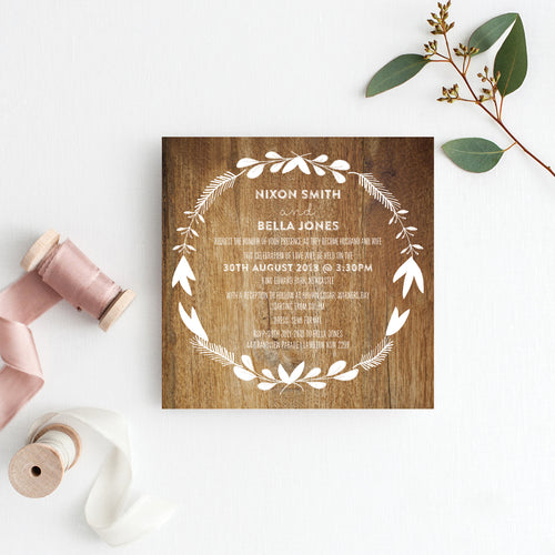 Woodland Whimsy Square Invitation