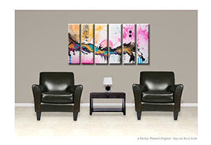 Abstract Canvas Art Painting 60x30 6pc Contemporary Original by Destiny Womack - dWo -Beautiful Disasters