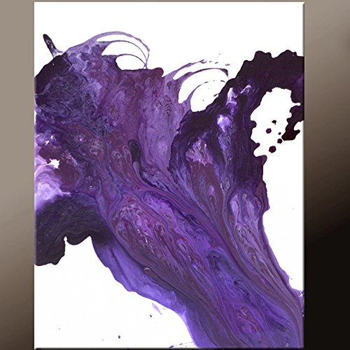 Purple Abstract Canvas Painting by Destiny Womack