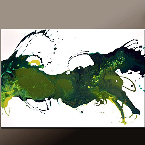 Green Abstract Canvas Art Painting by Destiny Womack