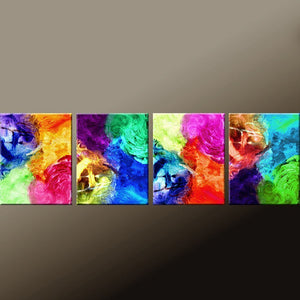 "4pc Set of Abstract Fine Art Prints 44"" by Destiny Womack - dWo - Expressions"