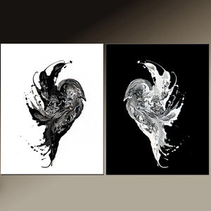 2pc Set of Abstract Bird Art Prints by Destiny Womack dWo ONE SOUL