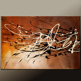 Brown Abstract Canvas Painting by Destiny Womack