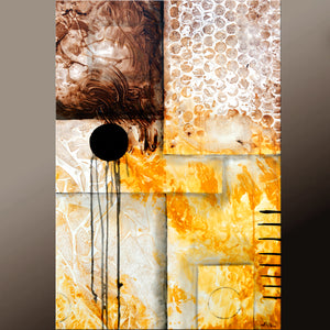 24x36 Abstract Canvas Art Contemporary Painting by Destiny Womack - dWo - Balancing Chaos