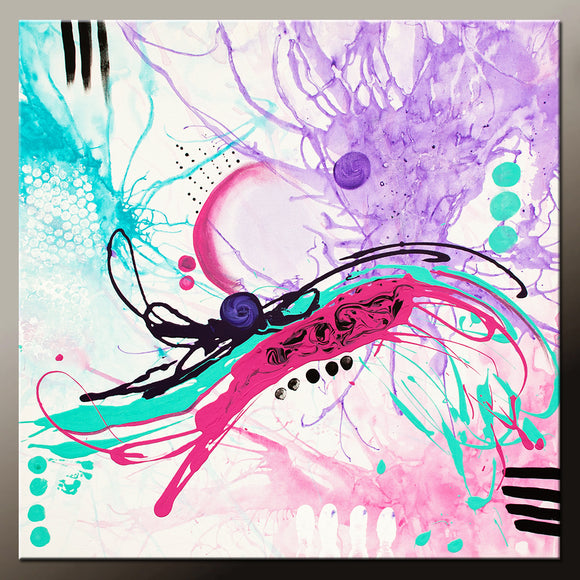 Abstract Canvas Art Contemporary Painting by Destiny Womack - dWo - 24x24 Beautiful Disasters