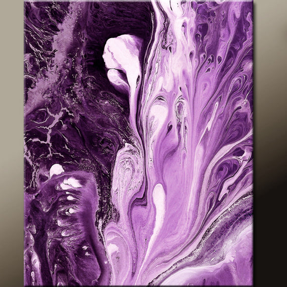11x14 Abstract Art Print Contemporary Purple Modern Giclee by Destiny Womack - dWo - Beyond Paradise