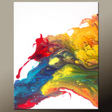 30x40 Abstract Canvas Art Contemporary Painting by Destiny Womack - dWo - Beyond the Rainbow