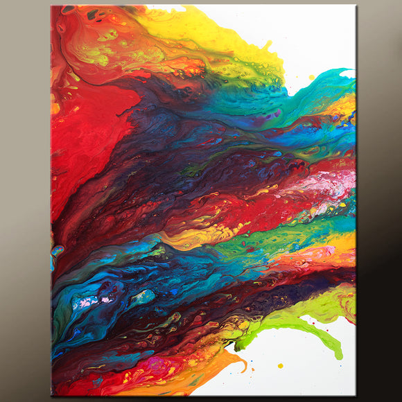RESERVED Abstract Canvas Art Contemporary Painting by Destiny Womack - dWo -  Beyond the Rainbow II