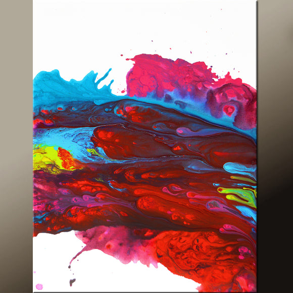 Abstract Canvas Art Contemporary Painting 18x24 by Destiny Womack - dWo - Chasing Dreams