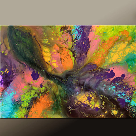 Contemporary Rainbow Canvas Art Painting by Destiny Womack