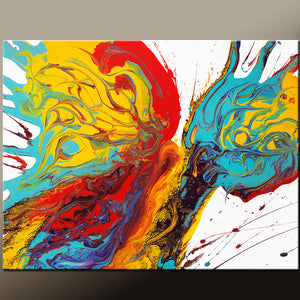 Abstract Canvas Art Contemporary Painting 16x20 by Destiny Womack - dWo - Dance of the Butterfly