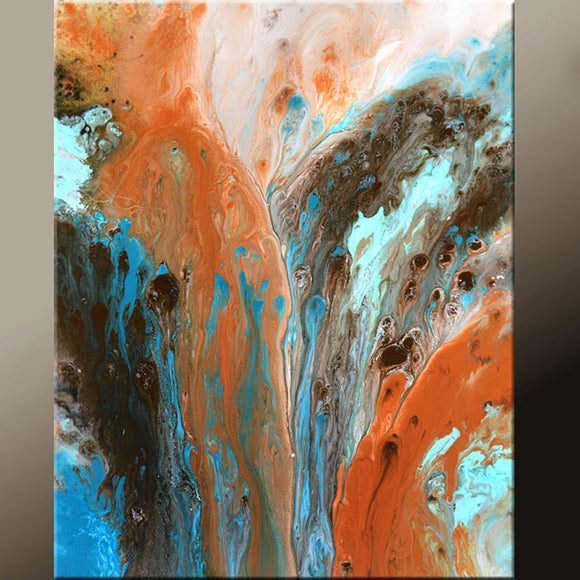 Abstract Canvas Art 18x24 Original Contemporary Fine Art Paintings by Destiny Womack - dWo - Earth Spirits