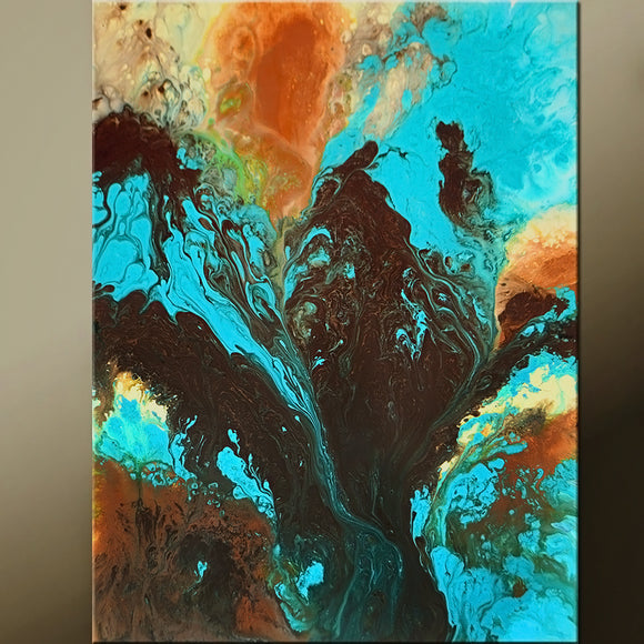 Abstract Canvas Art Contemporary Painting 18x24 by Destiny Womack - dWo - Enchanted Earth