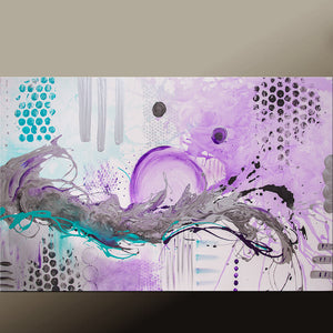 Abstract Canvas Art Painting 48x30 Contemporary Original by Destiny Womack - dWo - Finding the Balance IV