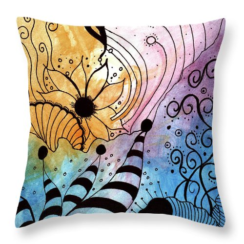 In My Garden - Throw Pillow