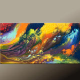 Abstract Canvas Art Contemporary 48x24 Painting by Destiny Womack - dWo -