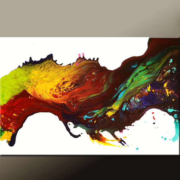 Abstract Canvas Art Contemporary Painting by Destiny Womack - dWo - Leaps of Faith