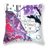 Learn O Find The Beauty - Throw Pillow
