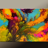 Contemporary Canvas Rainbow Art Painting by Destiny Womack